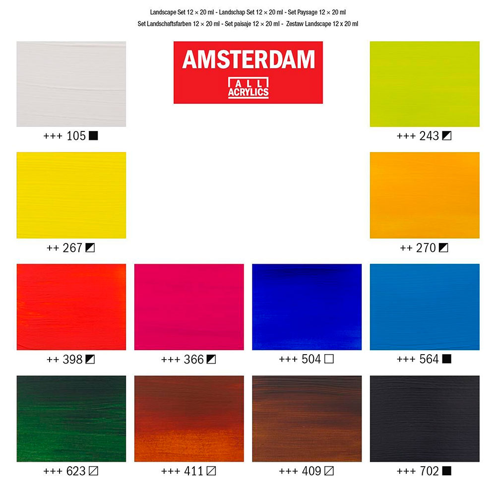 Amsterdam Standard Series - Set 12 Acrílicos 20 ml Paisaje