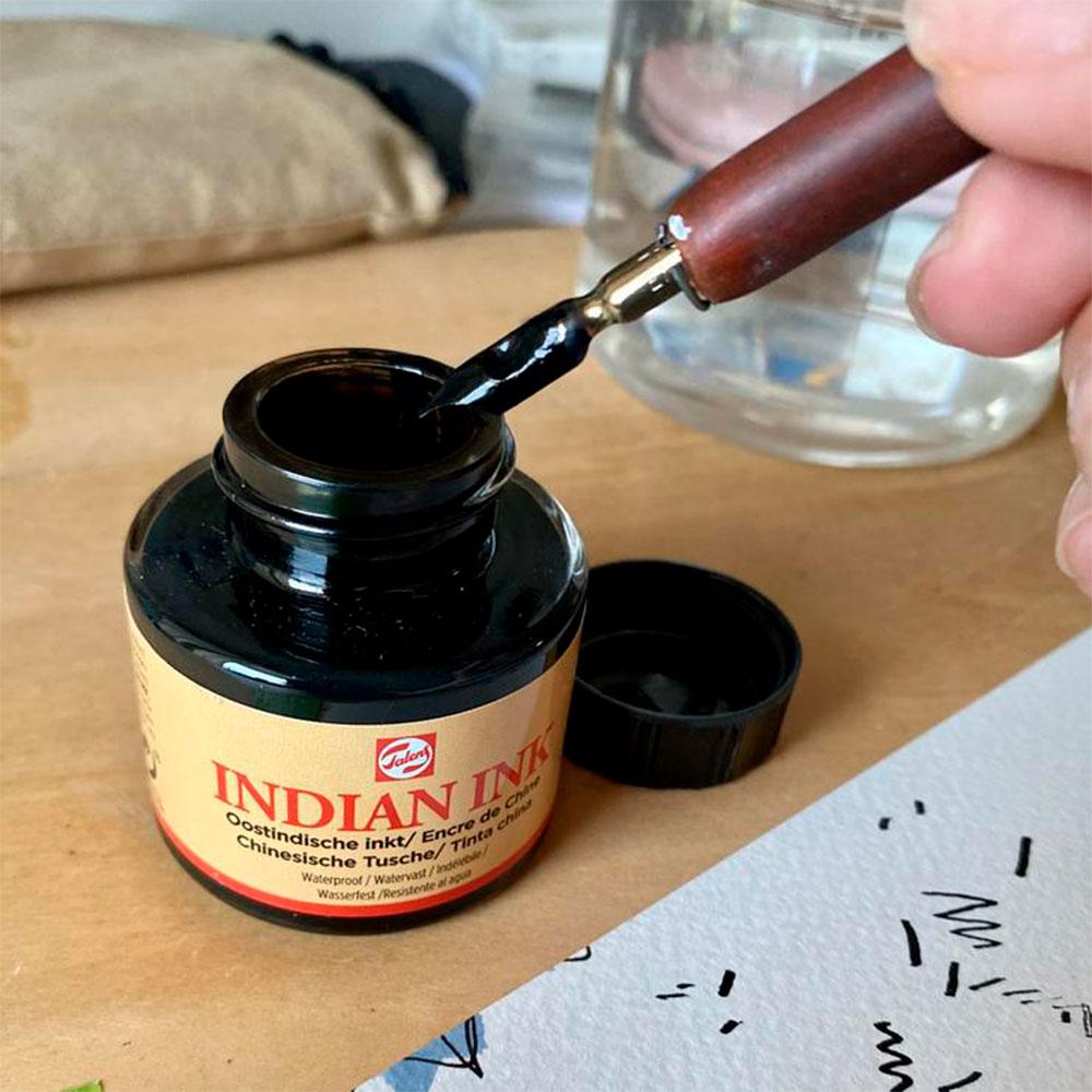 Talens - Tinta China 30 ml Color Negro