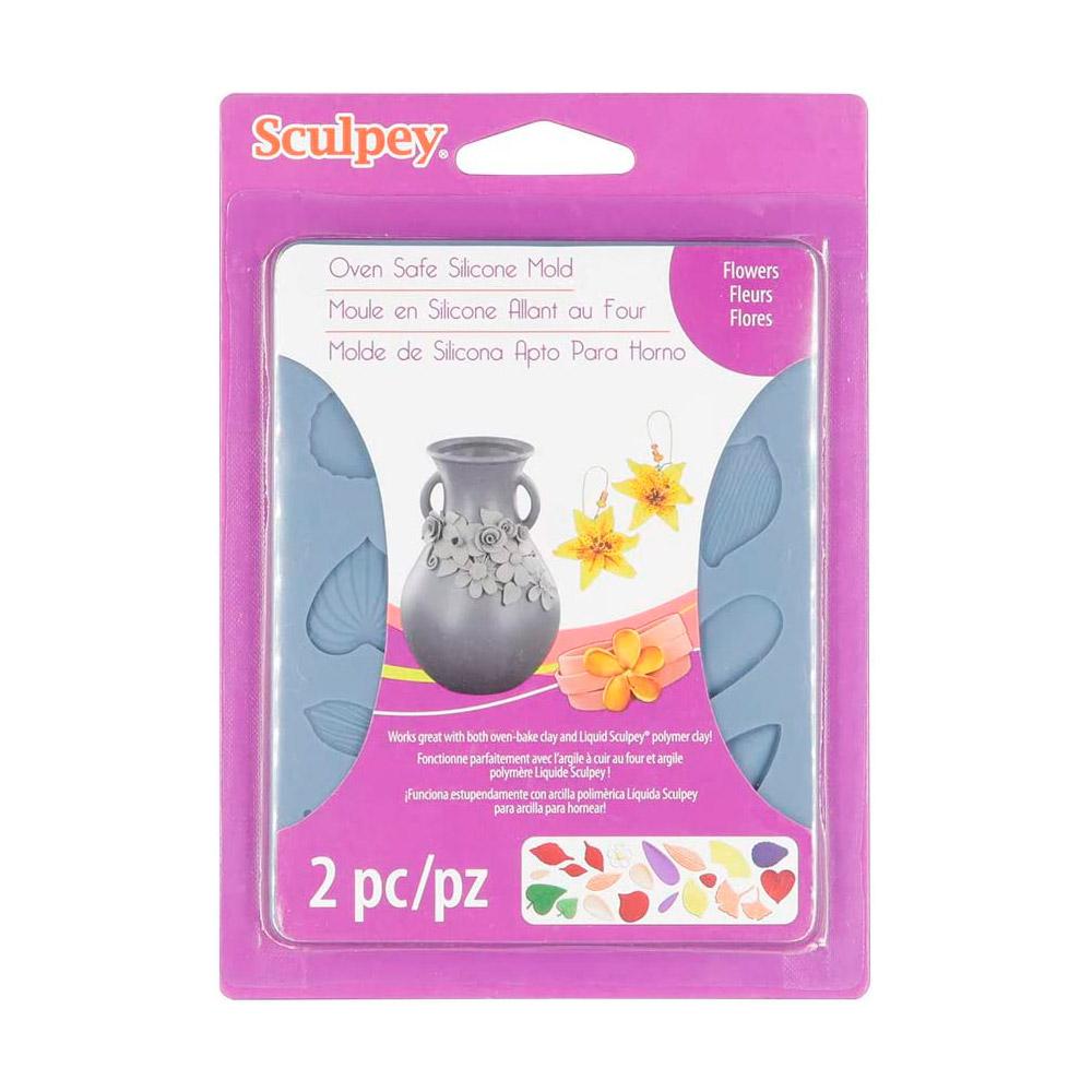 Sculpey - Moldes para Arcilla Horneable de Silicona Flores