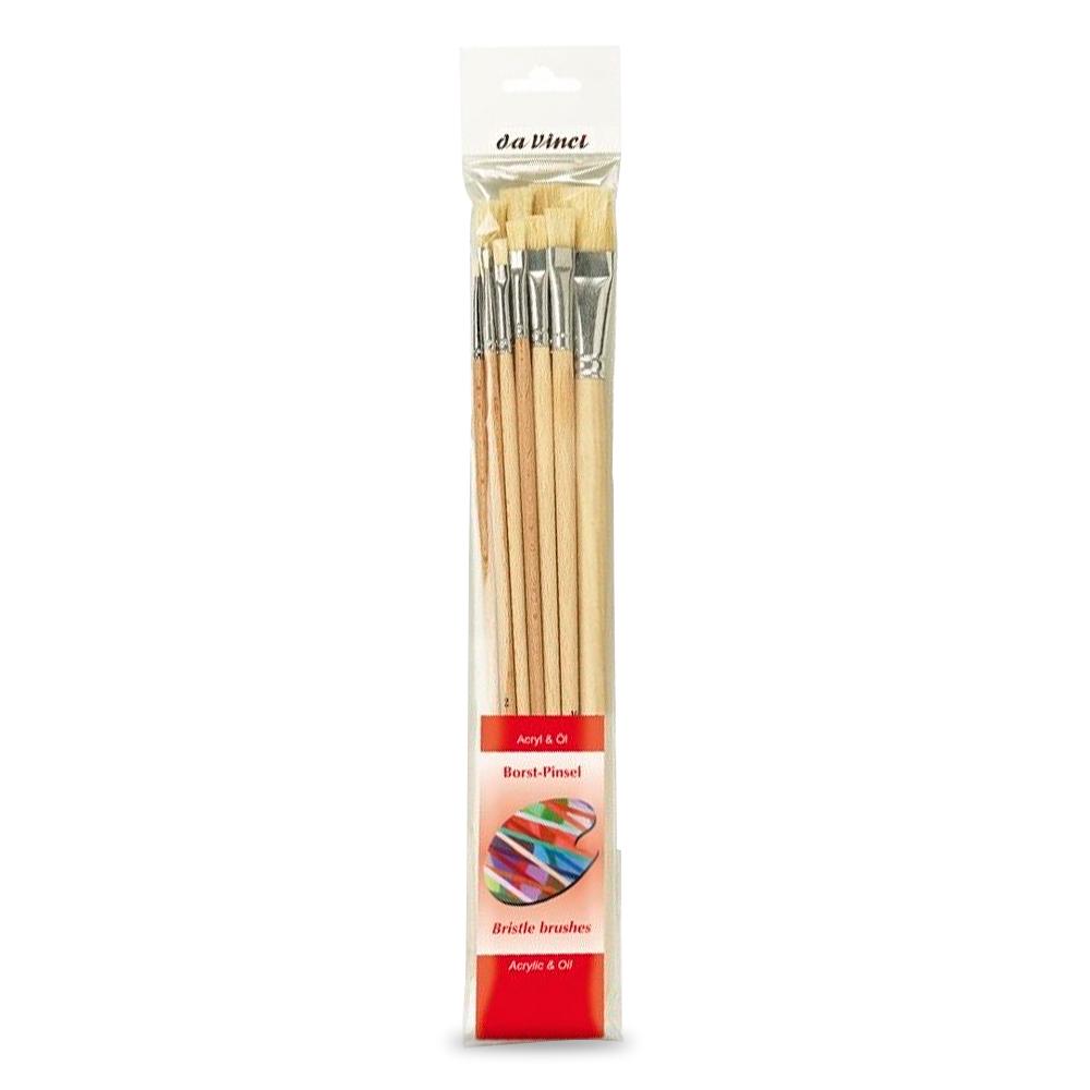 da Vinci - Set 10 Pinceles Acrílico y Óleo