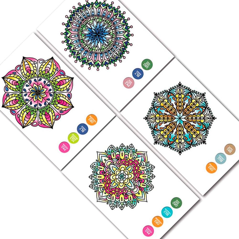 Chameleon Color Cards - Tarjetas para Colorear Mini Mandalas