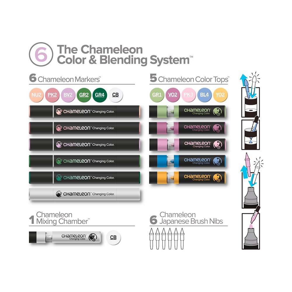 Chameleon - Kit Marcadores Color & Blending System 6