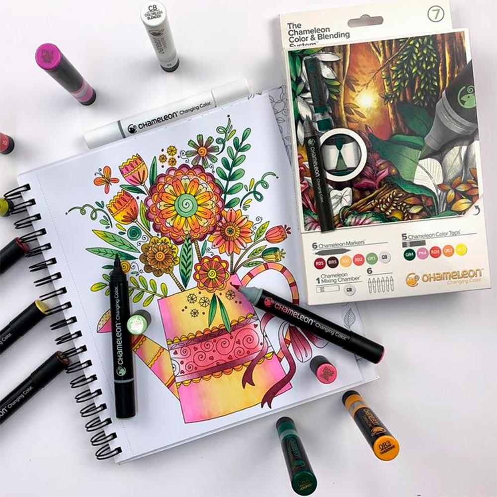 Chameleon - Kit Marcadores Color & Blending System 7