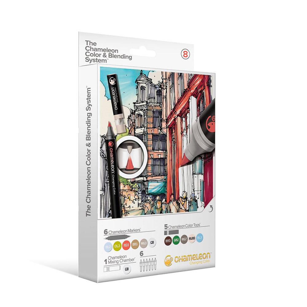 Chameleon - Kit Marcadores Color & Blending System 8