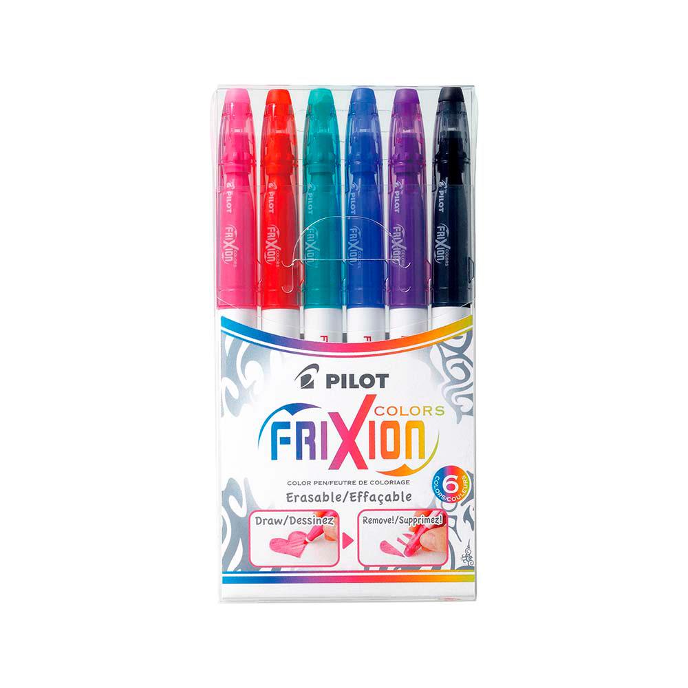 Pilot Frixion Colors - Set 6 Marcadores Borrables