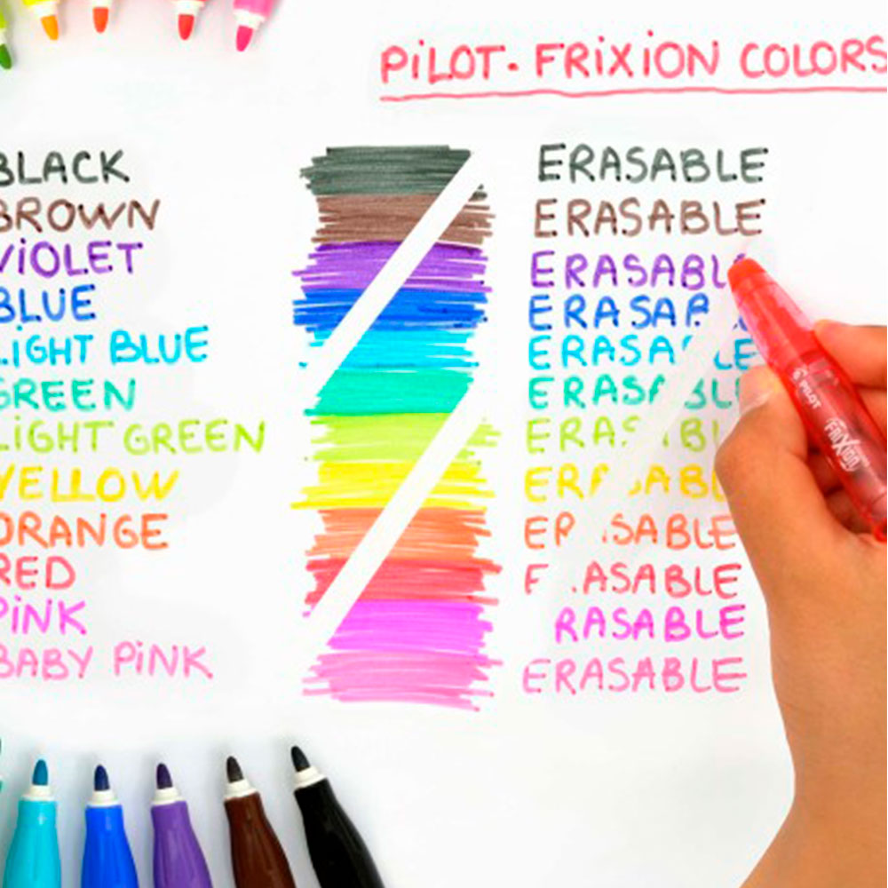 Pilot Frixion Colors - Set 12 Marcadores Borrables