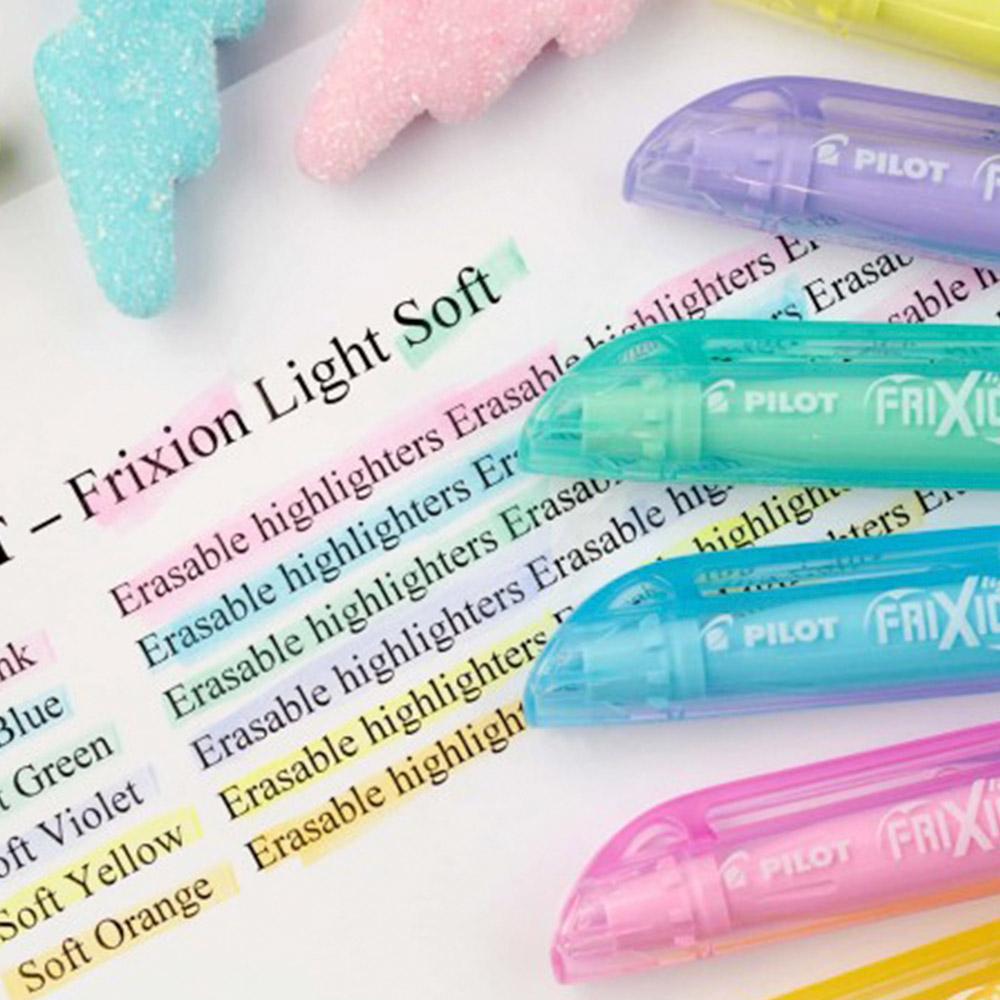 Pilot Frixion Light - Set 6 Destacadores Borrables Soft Pastel