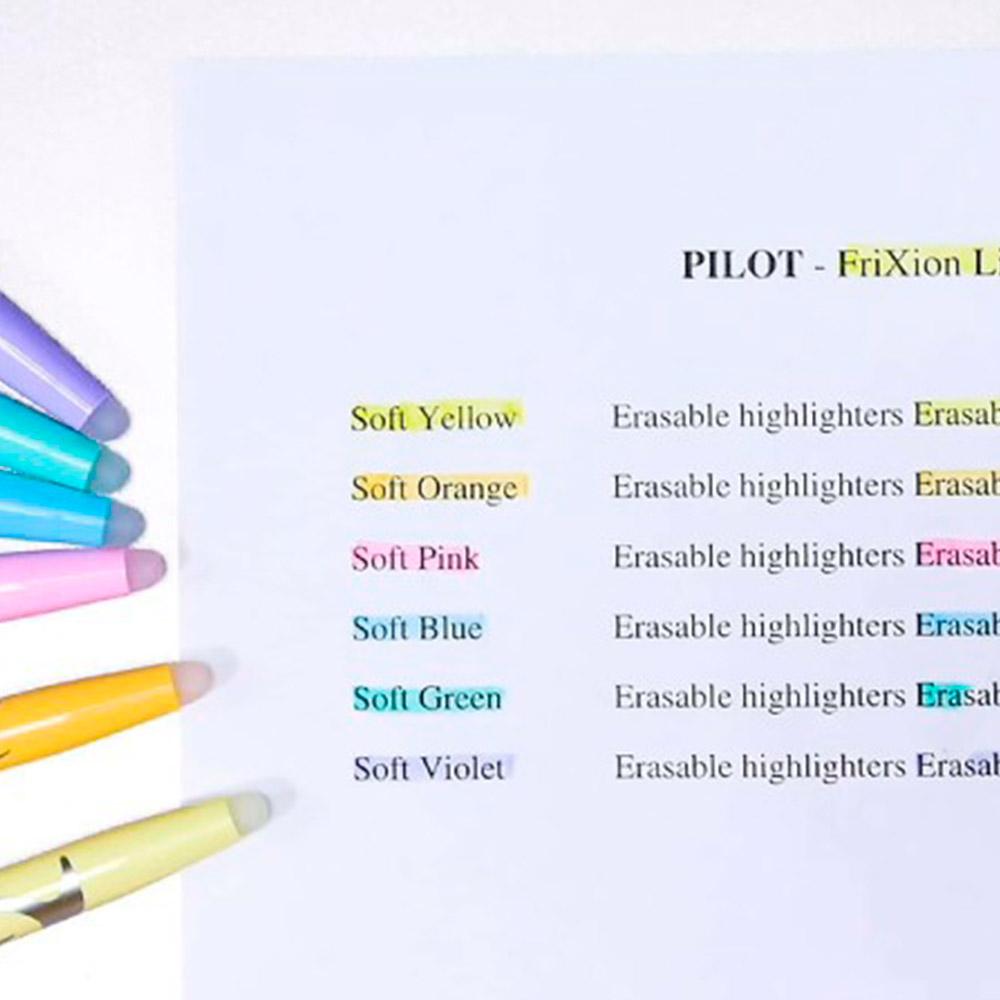 Pilot Frixion Light - Set 3 Destacadores Borrables Soft Pastel