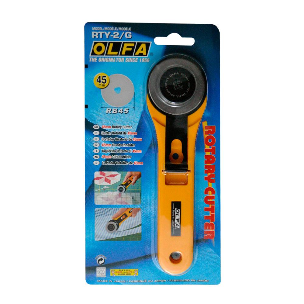Olfa - Cortador Circular Retráctil 45 mm RTY-2G