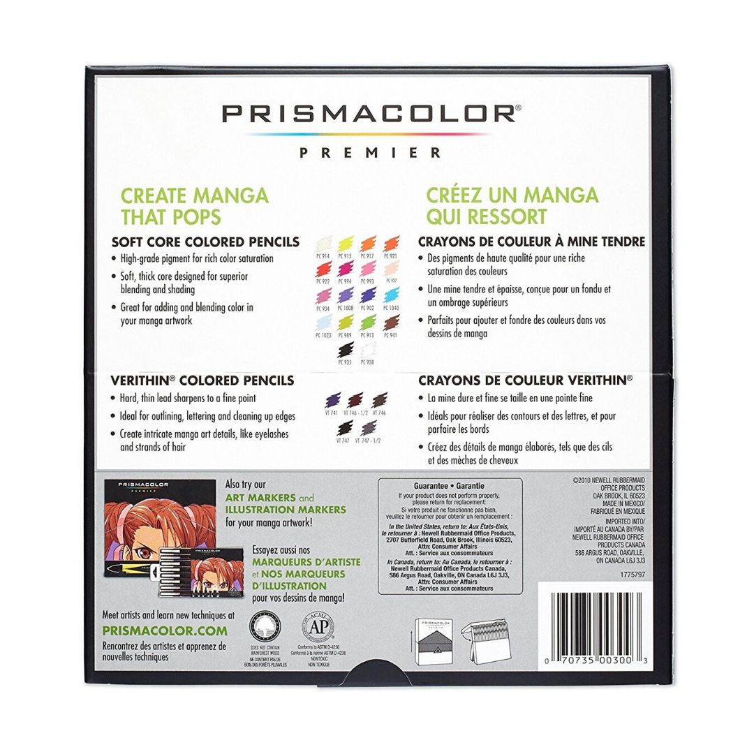 Prismacolor Premier - Set 23 Lápices de Colores; Serie Manga