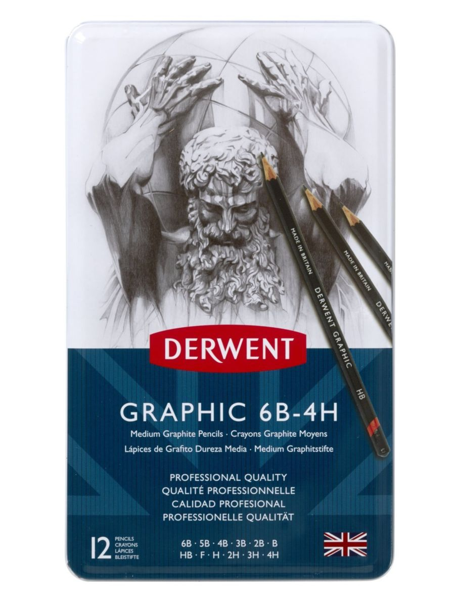 Derwent Graphic - Set 12 Lápices Grafito Medios