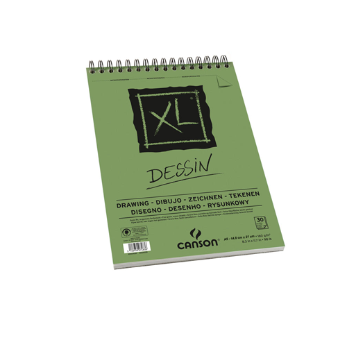 Canson XL - Croquera Dessin, A5 14,8 x 21 cm, 30 Hojas, 160 gr/m2