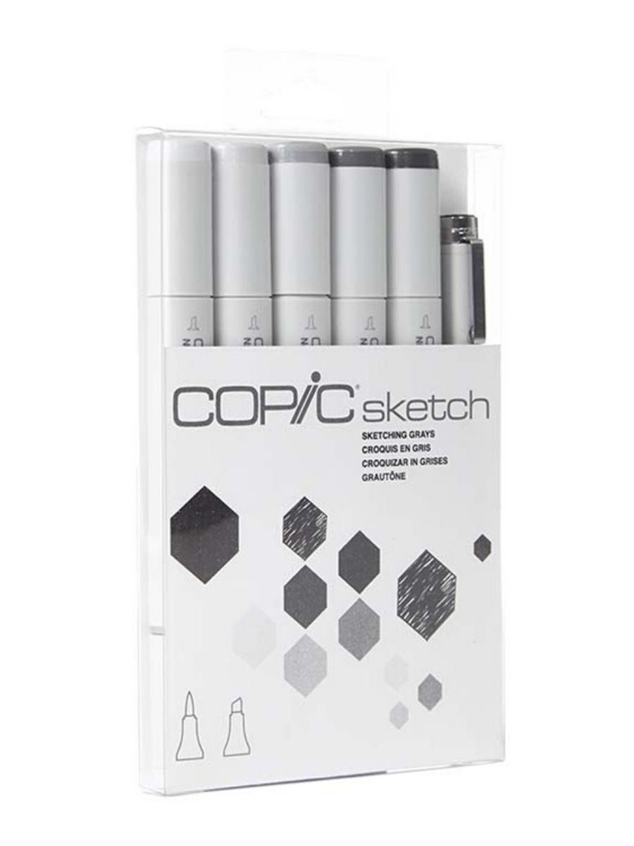Copic Sketch - Kit Marcadores Sketching Grays; Grises de Bosquejo