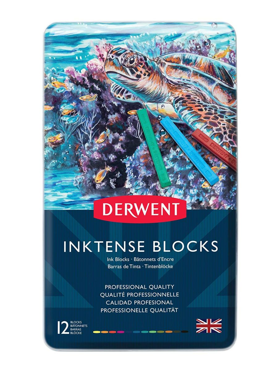 Derwent ® - 12 Barras de Tinta Inktense Blocks