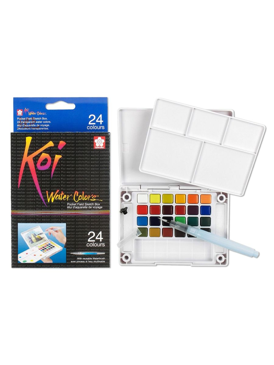 Sakura Koi - Set 24 Acuarelas; Con Water Brush