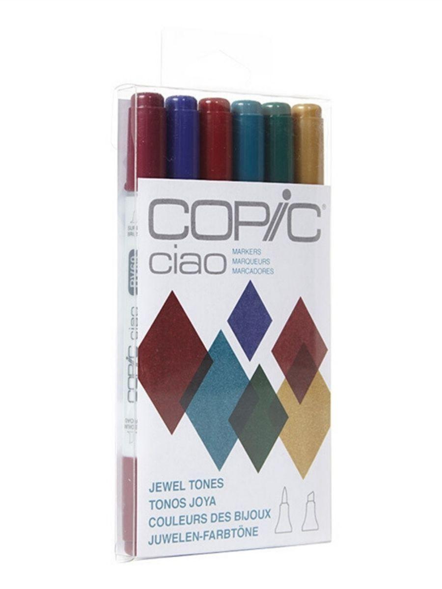 Copic Ciao - Set 6 Marcadores Jewel Tones; Tonos Joya