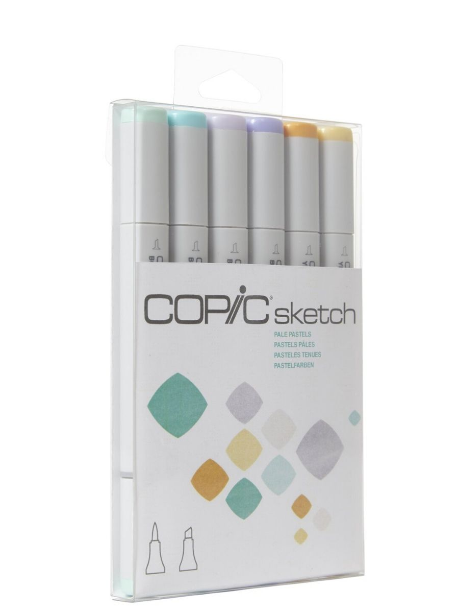 Copic Sketch - Set 6 Marcadores Pale Pastels; Colores Pastel Tenue