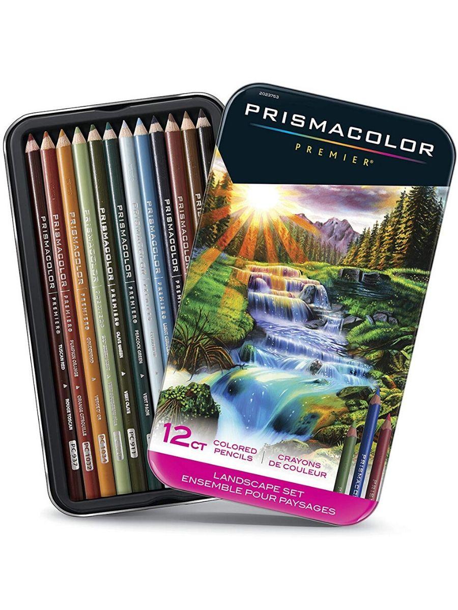 Prismacolor Premier - Set 12 Lápices de Colores; Edición Paisajes
