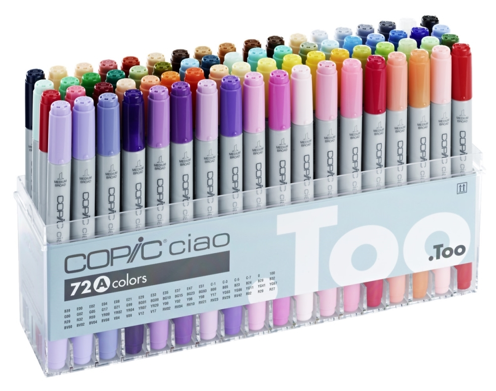 Copic Ciao - Set 72 Marcadores Colores A