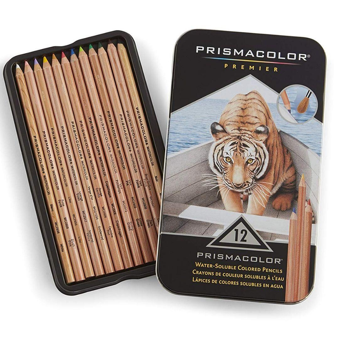 Prismacolor Premier - Set 12 Lápices de Colores; Watercolor (Acuarelables)