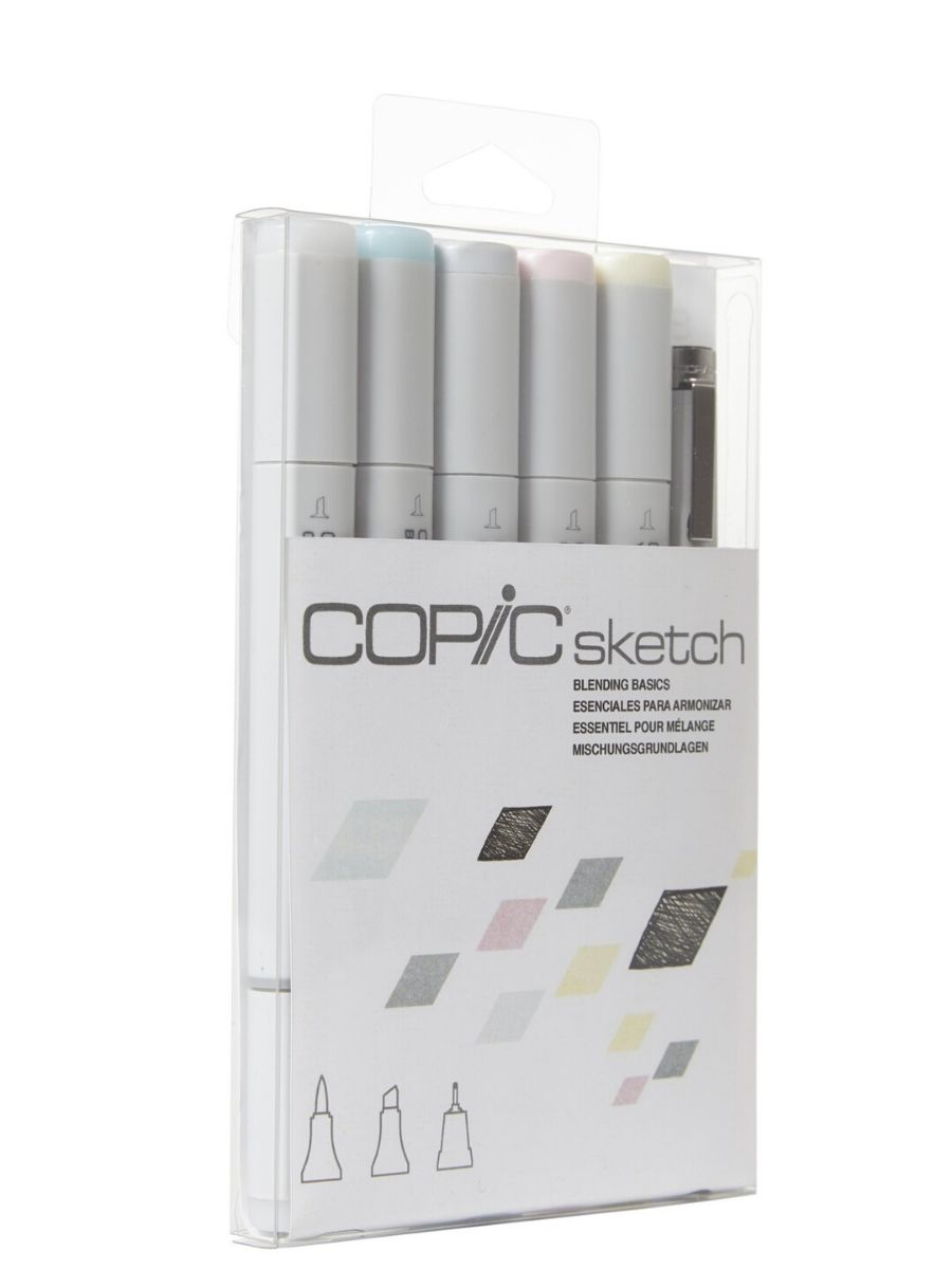 Copic Sketch - Set 5 Marcadores Blending Basics