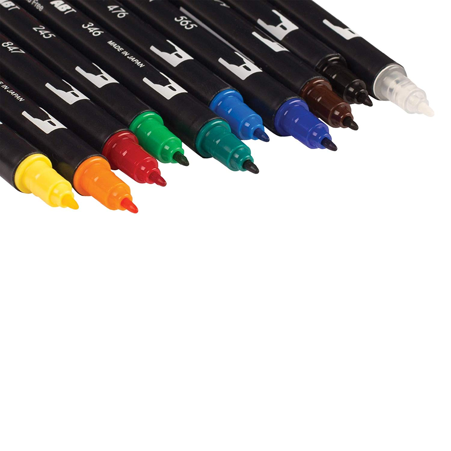 Tombow Dual Brush - Set 10 Marcadores; Colores Primarios
