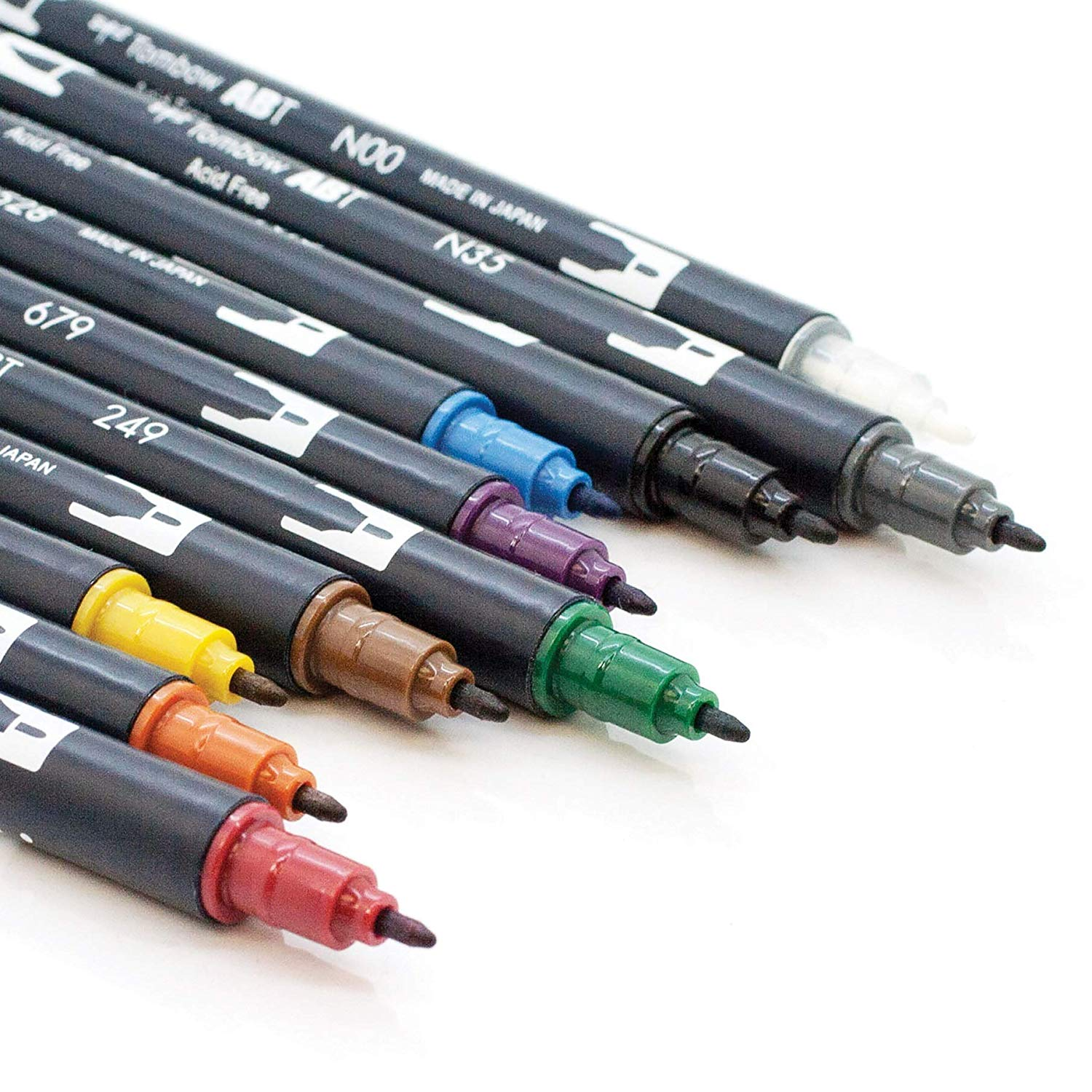 Tombow Dual Brush - Set 10 Marcadores; Colores Mudos