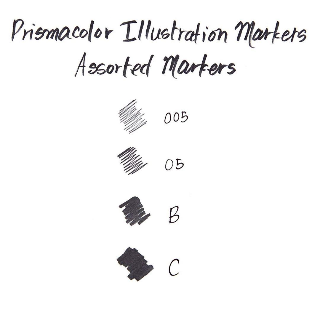 Prismacolor Premier - Set 4 Tiralíneas; Negro, Puntas Surtidas 005-05-B-C