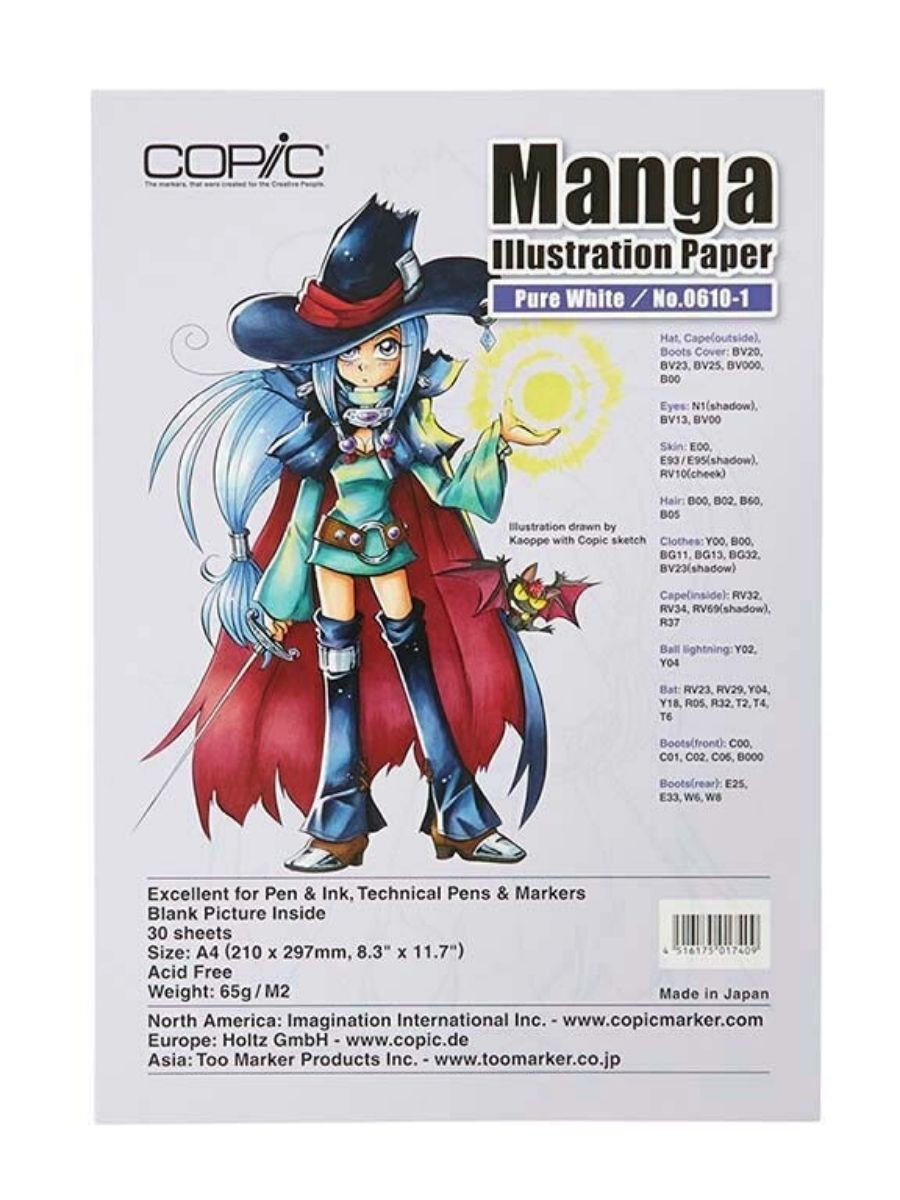 Copic Manga Illustration Paper - Pack 30 Hojas Pure White No.0610-1; A4 21 x 29,7 cm, 65 gr/m2