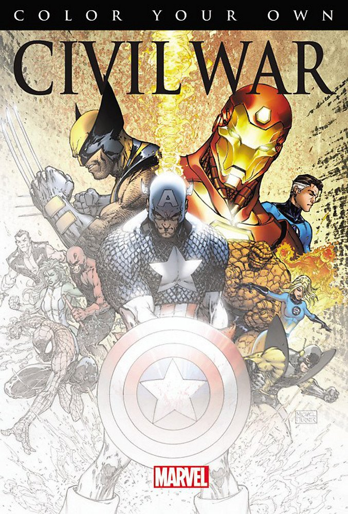 Marvel Color Your Own - Libro para Colorear; Civil War