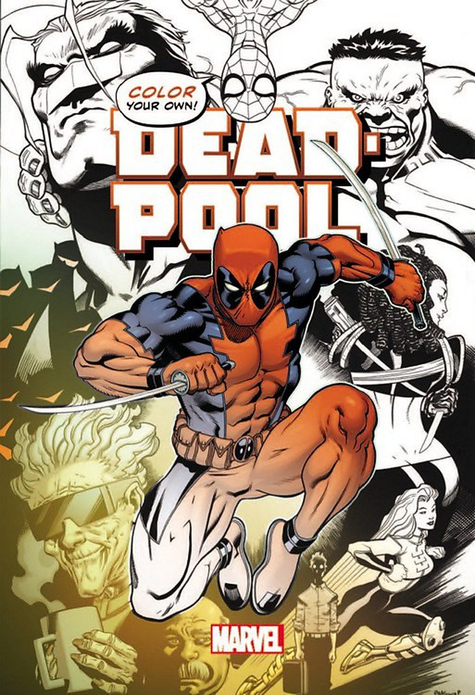 Marvel Color Your Own - Libro para Colorear; Dead Pool