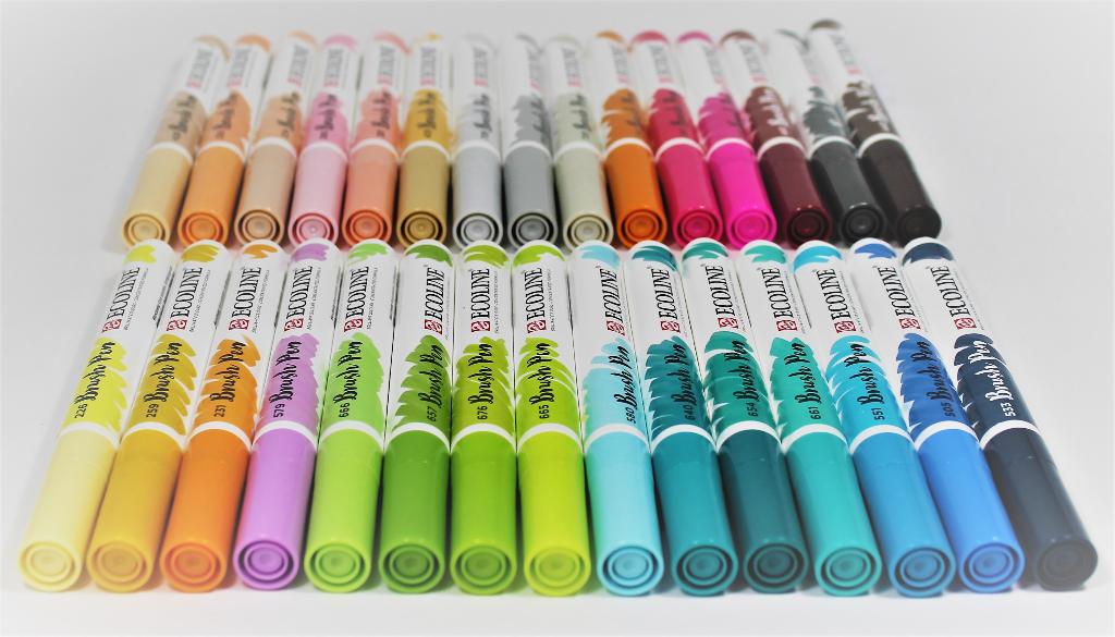 Royal Talens Ecoline - Set 30 Marcadores Brush Pen