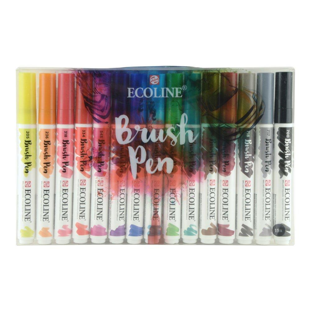 Royal Talens Ecoline - Set 15 Marcadores Brush Pen