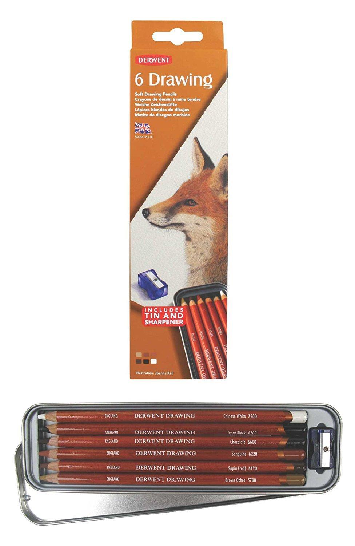Derwent Drawing - Set 6 Lápices de Colores; Blandos