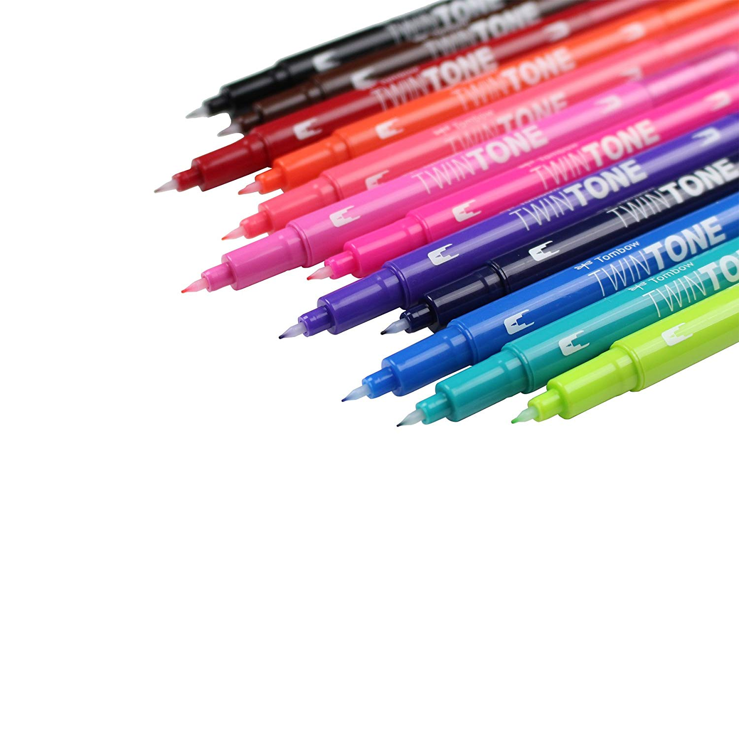 Tombow TwinTone - Set 12 Marcadores; Brights