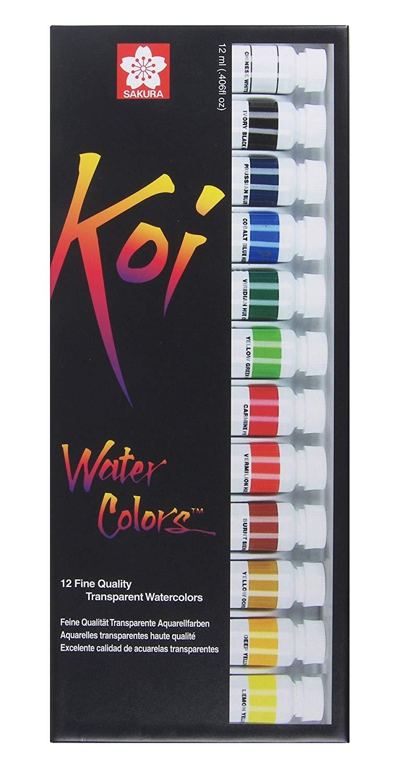 Sakura Koi - Set 12 Acuarelas Water Colors; Tubos de 12 ml