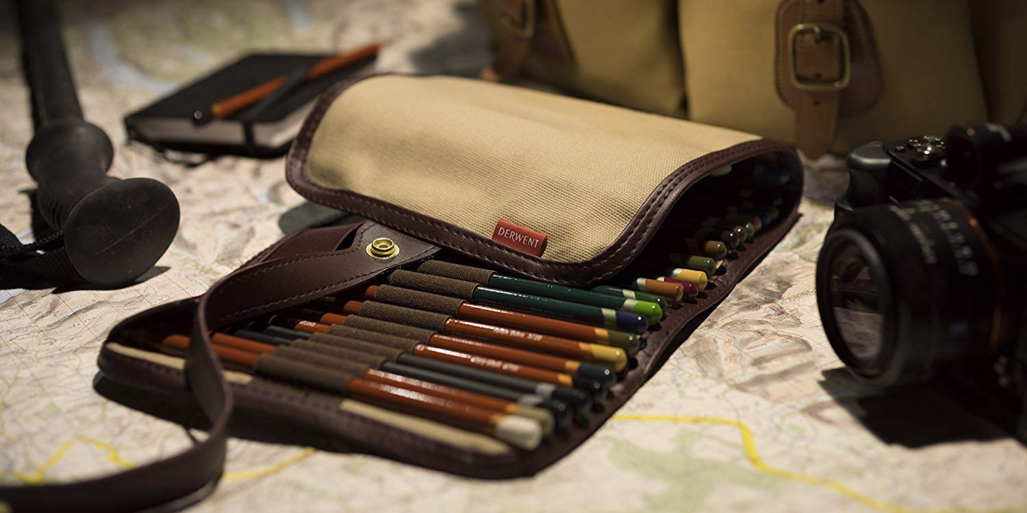 Derwent - Estuche Enrollable para 30 Lápices