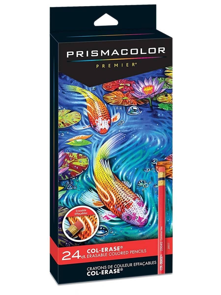 Prismacolor - Set de 24 Lápices de Colores Borrables Col-Erase
