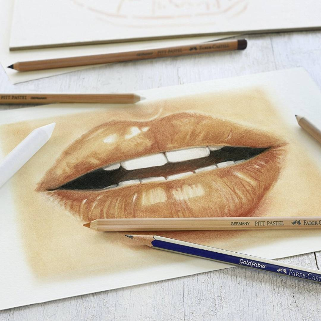 Faber Castell - Kit Dibujo Classic Sketch Set; Pastel y Grafito, 6 Piezas
