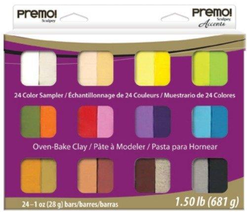Sculpey Premo! - Arcilla Polimérica Multipack; 24 Colores, 681 g (24 x 28 g)