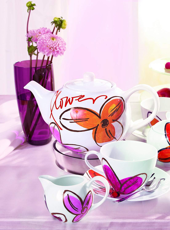 Edding Porcelain Brush Pen - Set 6 Marcadores Colores Cálidos para Porcelana