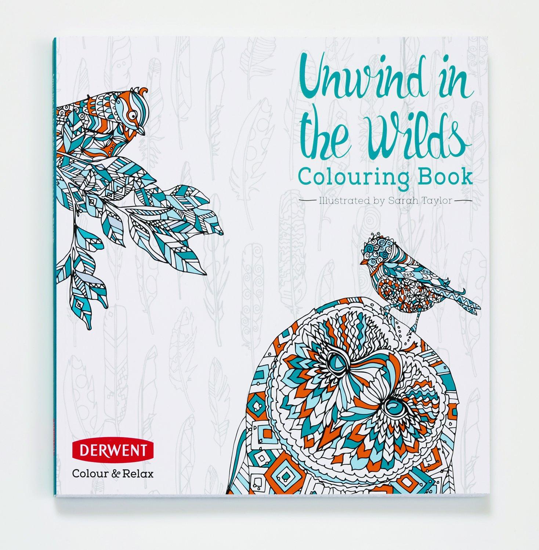Derwent Unwind in the Wilds - Libro para Colorear; Incluye 10 Lápices Coloursoft