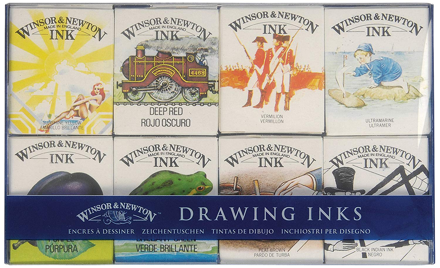 Winsor & Newton - Set 8 Tintas de Dibujo Sir William Collection