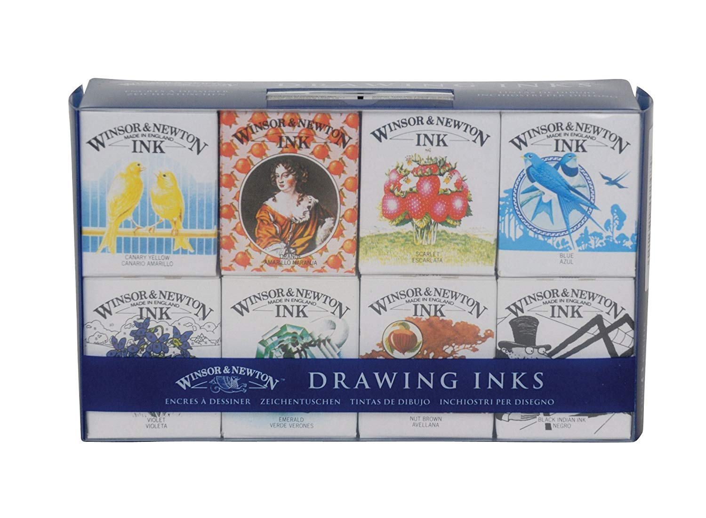 Winsor & Newton - Set 8 Tintas de Dibujo Sir Henry Collection