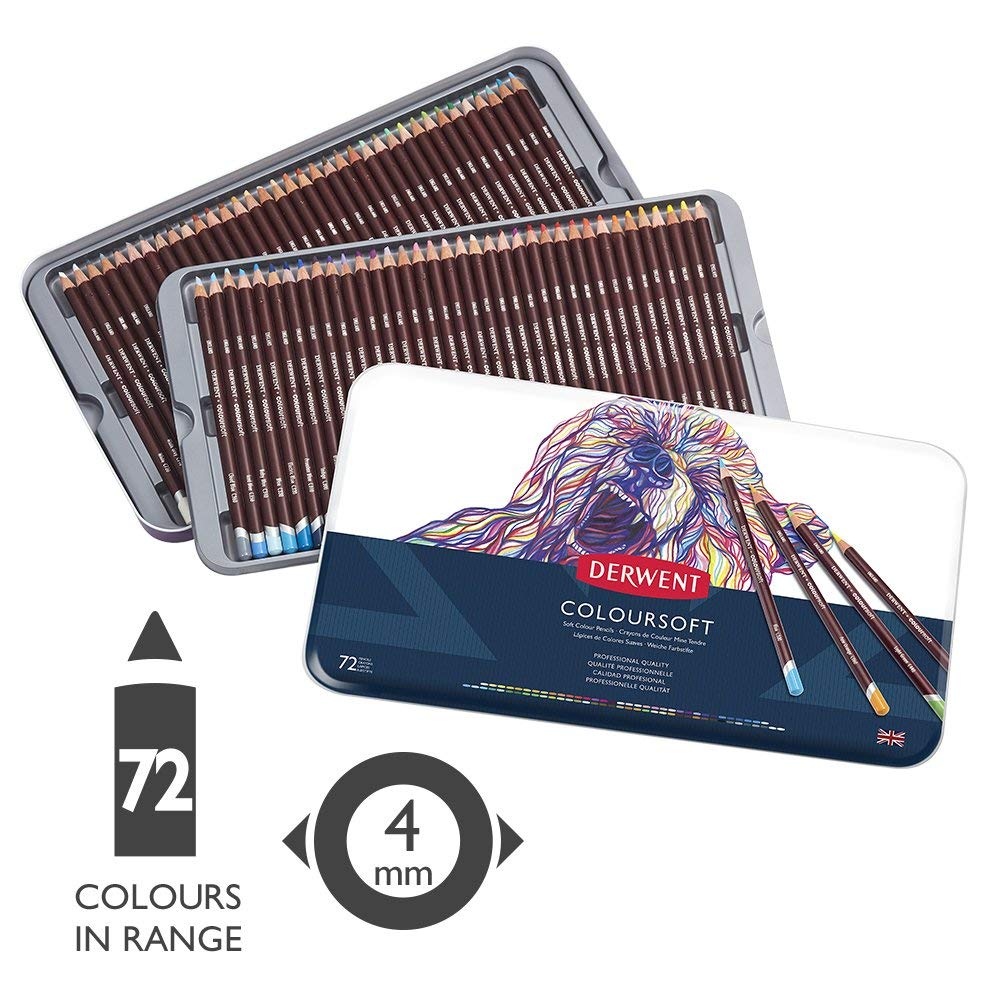 Derwent Coloursoft - Set 72 Lápices de Colores