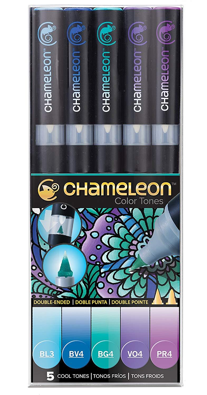 Chameleon Color Tones - Set 5 Marcadores Tonos Fríos