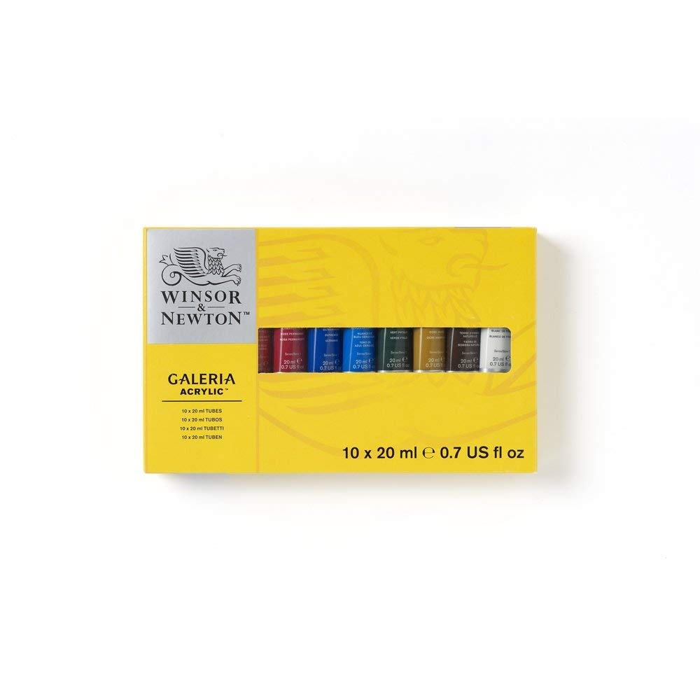 Winsor & Newton Galería - Set 10 Acrílicos en Tubos de 20 ml