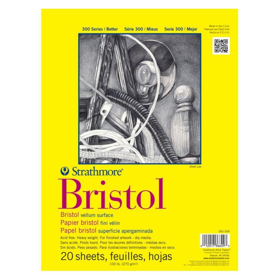 Strathmore Bristol Vitela - Croquera 22,9 x 30,5 xm 270 gr/m2 20 hojas