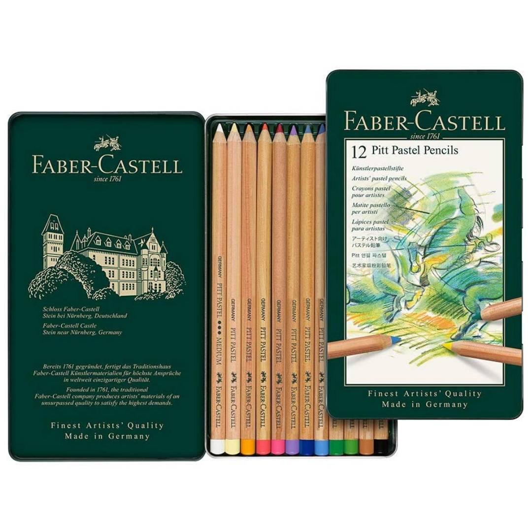 Faber-Castell Pitt - Set 12 Lápices Pastel