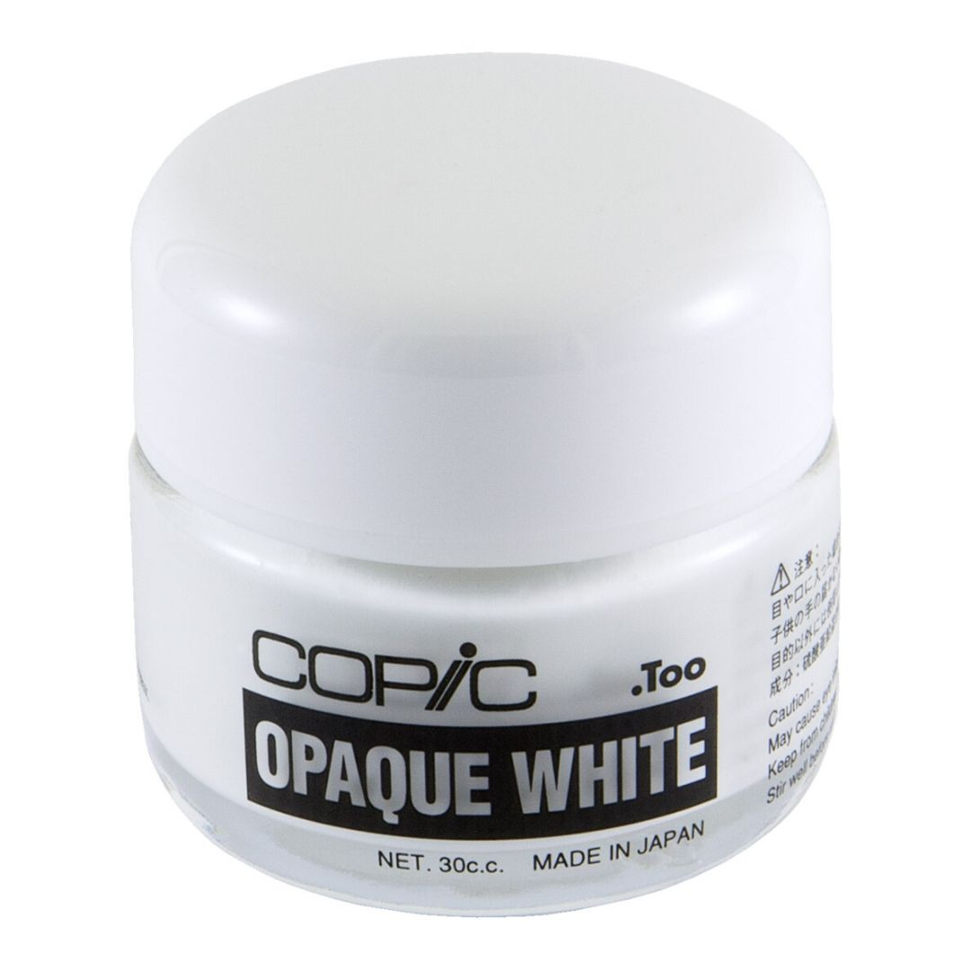 Copic Opaque White - Pintura Color Blanco, Frasco 30 cc